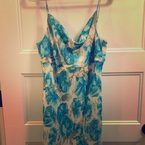 Ann Taylor turquoise & green summer dress - size 6